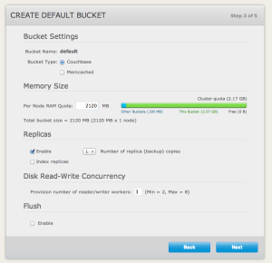 Create default Couchbase bucket