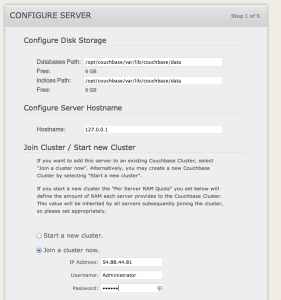 Join an existing Couchbase cluster